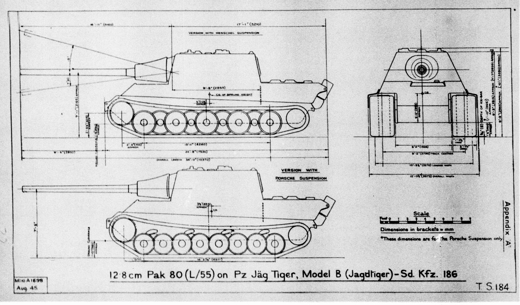 Jagdtiger suspension designs