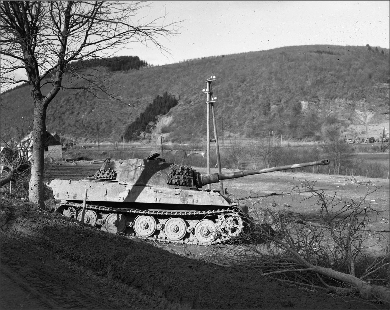 KT 109 of the 506th heavy tank battalion abandoned in January 1945 south of St. Vith Ardennes