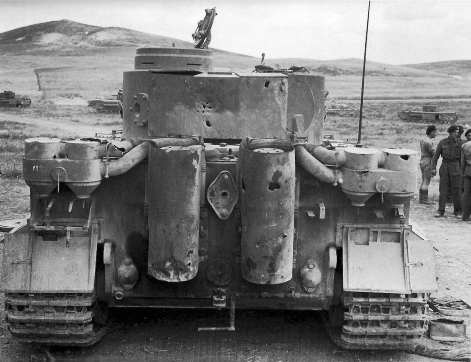Tiger 131 sPzAbt 504 after capture